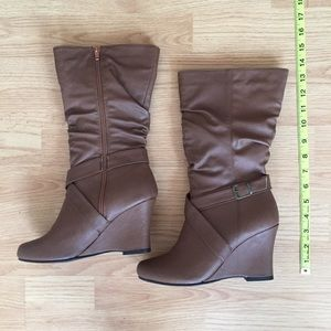 Shoes - NEW! Mid-Calf Wedge Boots